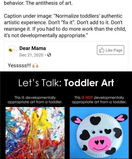 ศิลปะเด็ก หรือที่โชว์ผลงานของผู้สอน